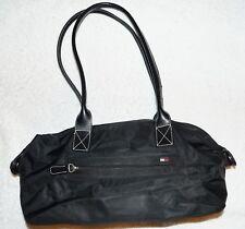 Vintage Tommy Hilfiger Handbag black shoulderbag tote satchel Clean VGU