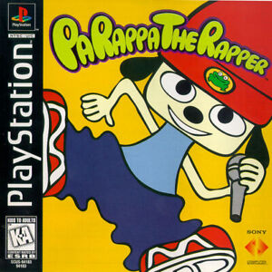 - PaRappa The Rapper PS1 Front Back NTSC Replacement Box Art Case Insert Cover