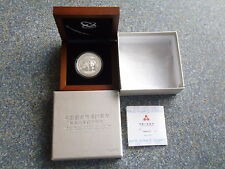 China Panda 10 Yuan 2010 PP Silber 20 Years Capital Market 1 Oz Silver proof
