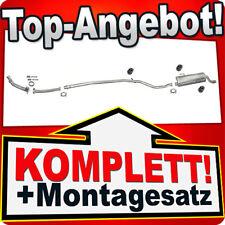 Auspuff PEUGEOT 206 1.1 1.4 Schrägheck mit CHROM / auch 206+ +Reparaturrohr 925