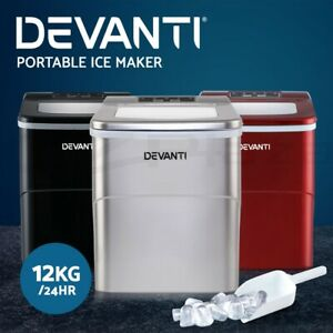 Devanti Ice Maker Machine Commercial Portable Ice Cube Tray Bar Countertop Party