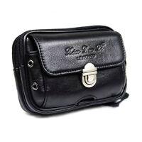 Genuine Leather Pouch Cell Phone Case Mini Purse Fanny Pack Waist Money Belt Bag