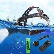 T6 LED Headlamp Waterproof Headlight Underwater Diving Swimming Torch & Battery