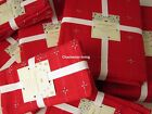 "CYNTHIA ROWLEY HOLIDAY 4 Cloth NAPKINS 20""x 20"" CHRISTMAS Cotton Red Silver NEW"