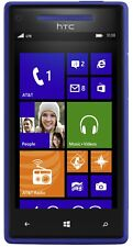 AT&T Cricket Tracfone H2O Net10 HTC 8X Blue 4G Windows 8 MP 720p GSM Excellent
