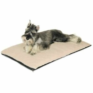 """K&H Pet Products Ortho Thermo Pet Bed Medium White / Green  17"""" x 27"""" x 3"""""""