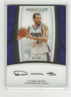 2016-17 VLADE DIVAC IMMACULATE COLLECTION AUTO #H-VD #d 016/99 SACRAMENTO KINGS