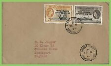 Falkland Is. Dependency 1958 1d & 2½d Loubert Coast, FE 8 58 First recorded date