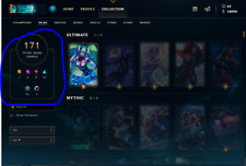 Compte League Of Legends 171 Skins all Champions Gold 4 Last Season