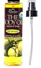 Aceite Corporal Orgánico De Jojoba Oliva Vitamina E Aroma Coco Del Caribe