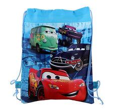 New Disney Cars McQueen Cartoon Drawstring Backpack Kids Drawstring School Bag I