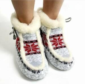 Wool Ankle Slippers, Soft Sheepskin shoes, Winter Sneakers