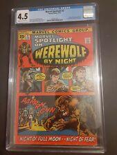 MARVEL SPOTLIGHT #2  CGC 4.5  1st Appearance Werewolf by Night. Marvel 1972