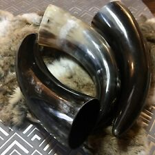 Hand Polished Jorvik Viking Drinking Horn Mead Wine Norse Valhalla Cosplay