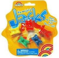 Knuklebones or Jacks Fluro Colour Family Game FREE POSTAGE