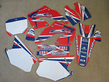 TEAM HONDA WORLD GRAPHICS & NUMBER PLATES CR125 CR125R CR250 CR250R  2000-2001