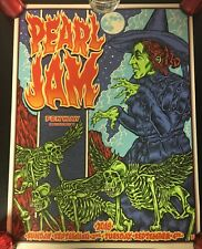 PEARL JAM POSTER BEN BROWN 2018 BOSTON FENWAY PARK BRAND NEW. WRINKLE ON TOP