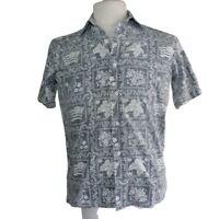 Reyn Spooner Men's Blue Hawaiian Traditionals Hawaiian Short Sleeve Shirt