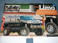 """2003 Hummer H2 Custom Lifted Article """"Off-Road Limo"""" Lexani"""
