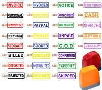 Any 2 pcs self inking stamp accounting paper work PAID COPY SCANNED 8 Colors