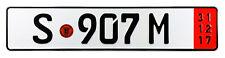 Mercedes Porsche Stuttgart Red Export German License Plate - Unique Number NEW