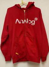 Analog Mens Full Zip Hoodie Sz Small Red Excellent Condition