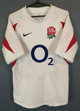 RARE PLAYER ISSUE MEN'S RUGBY UNION ENGLAND 2005/2007 HOME SHIRT JERSEY SIZE M
