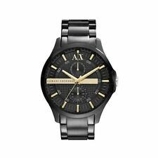 ARMANI EXCHANGE AX2122 Smart Ion Black Gold Accents 46MM BRAND NEW AUTHENTIC AX
