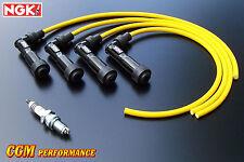 Honda CB650 Spark Plug Wires Cables Set, Yellow, SOHC CB Custom 650