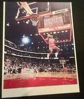 MICHAEL JORDAN CLASSIC 1988 SLAM DUNK CHAMPIONSHIP CHICAGO BULLS 8x10 POSTER
