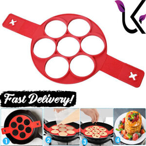 Pancake Maker Silicone Mold Flip Ring Breakfast Mould Cooking Egg Omelette Tool
