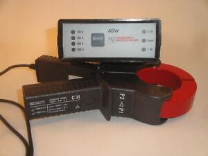 Chauvin Arnoux Strom Zange C31 + Testgerät ADW (current probe C31) Input: 1200A~