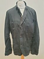R183 MENS DIESEL DARK GREY COTTON COLLARED DENIM JACKET UK L EU 52