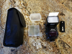 Nikon SB-800 AF Speedlight with case, diffuser, gels, stand, battery pk,  box