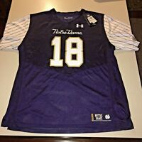 IAN BOOK #12 autographed signed NOTRE DAME IRISH SHAMROCK SERIES FOOTBALL JERSEY