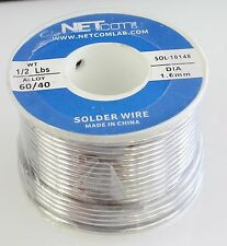 60/40 1.6mm 1/2lbs Tin Lead Rosin Core Solder Flux Soldering Welding Iron Wire R