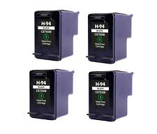 4PK NON-OEM INK FOR HP 94 C8765WN BLACK PhotoSmart 2605 2608 2610 2613 2710 7850