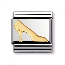 BRAND NEW GENUINE NOMINATION CLASSIC 18ct gold HIGH HEEL SHOE CHARM (030109 08)