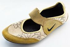 Nike Mary Janes Yellow Fabric Women Shoes Size 6.5 Medium (B, M)