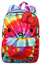 Loungefly Sanrio Hello Kitty Ears Hippie Rainbow Tye Dye Laptop School Backpack