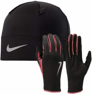 Nike Dry-Fit Running Sport Hat & Gloves Black Set S-M/L-XL(Not trainers shirt)