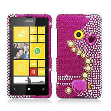 For T-Mobile Nokia Lumia 521 Crystal Diamond BLING Case Phone Cover Pearl Pink