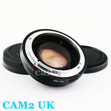Focal Reducer Speed Booster 0.72x Adapter Canon FD lens to Fujifilm X FX mount