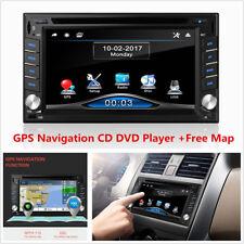 6.2inch HD 2 DIN Car Stereo FM Radio Bluetooth GPS Navigation CD DVD Player+Map