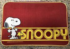 Rare Vintage 1965 Snoopy Woodstock Cartoon Character Kids Travel Bag Suitcase