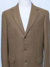 Ermenegildo Zegna TUI LLAMA Beige Tan 100% Lama Fur Men's Sport Coat Size 54L