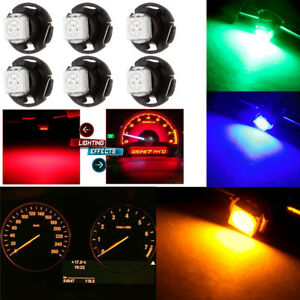 30 Pcs 12V T4.7 Wedge 5050-SMD Light Bulbs for Car Panel Dashboard Gauge Lamp
