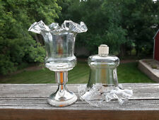2 Homco Victorian Ruffled Peg Votive Cup Candle Holders w/New Grommets Peglite
