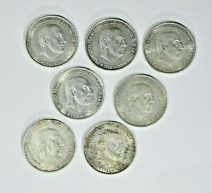 Lot of seven 1966 Spain 100 Silver PTAS 99c NO RESERVE  Witter Coin