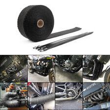 15M Auspuffband Fiberglas Hitzeschutzband Krümmerband mit 15 Kabelbinder